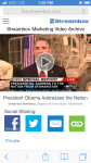 Streambox Live Channel iPhone View - Playing Archived Video