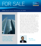Colliers For Sale Placard Template